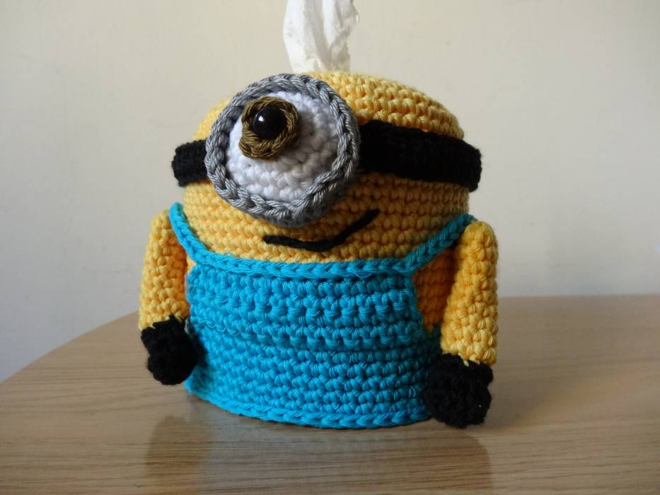 Patron Minion Amigurumi : Patrón minion caja de pañuelos abejitas un panal de rica artesanía
