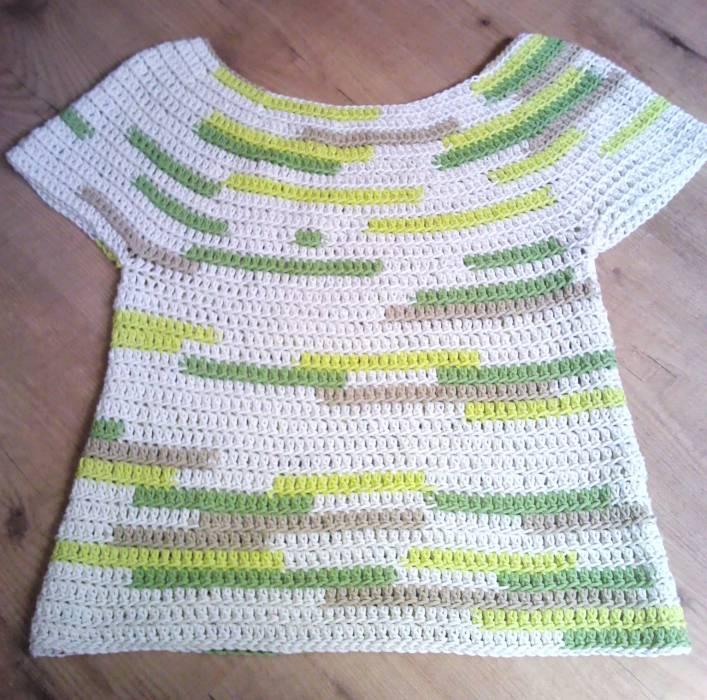 Famoso Patrón De La Camisa Crochet Ornamento - Manta de Tejer Patrón ...