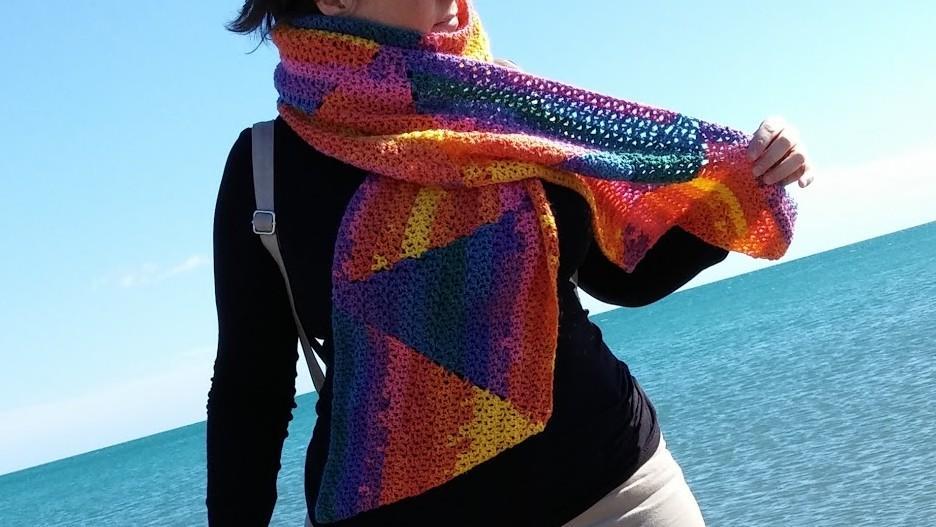 Patrón Bufanda triangular | Abejitas | Un panal de rica artesanía