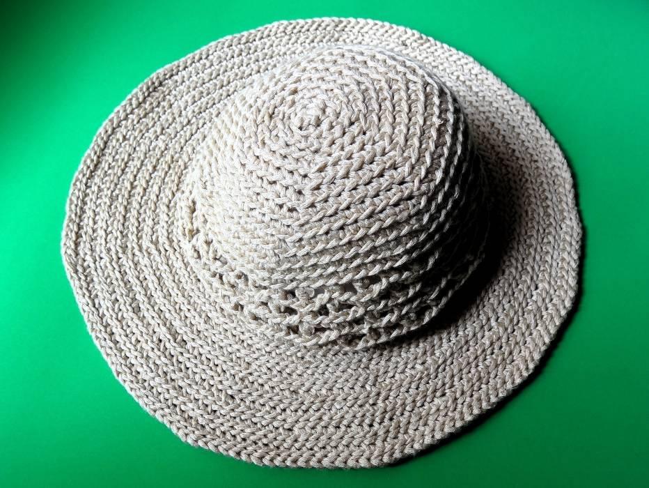 Hermosa Sombrero De Verano Crochet Patrón Libre Patrón - Manta de ...