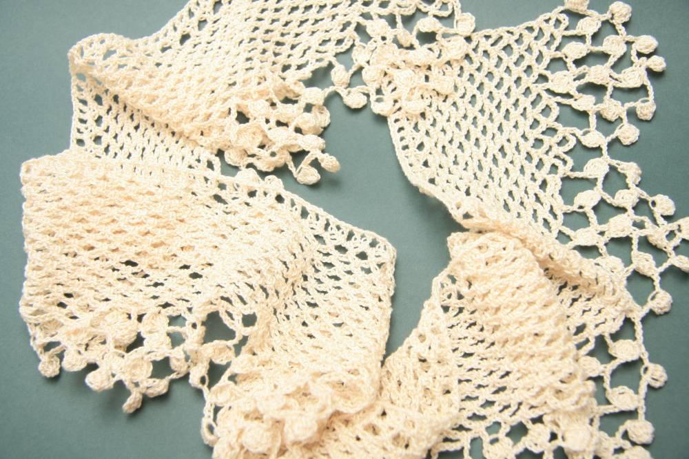 Bufanda de puntilla | Crochet | Algodón | Complementos | Abejitas ...