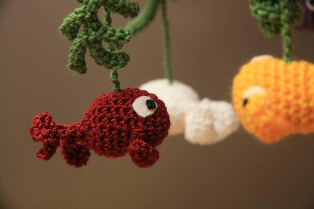 Hermosa Patrón De Crochet Libre De Peces Viñeta - Manta de Tejer ...