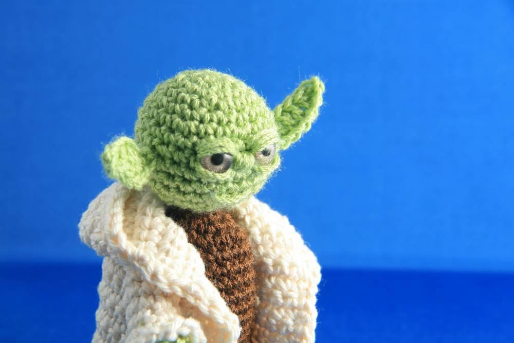 Yoda Amigurumi Acr?lico, Algodon Decoracion, Otros ...