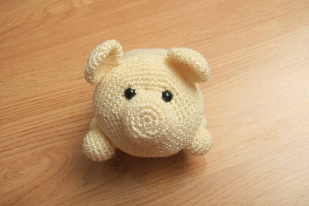 Encantador Patrones De Ganchillo Cerdo Libre Embellecimiento - Manta ...