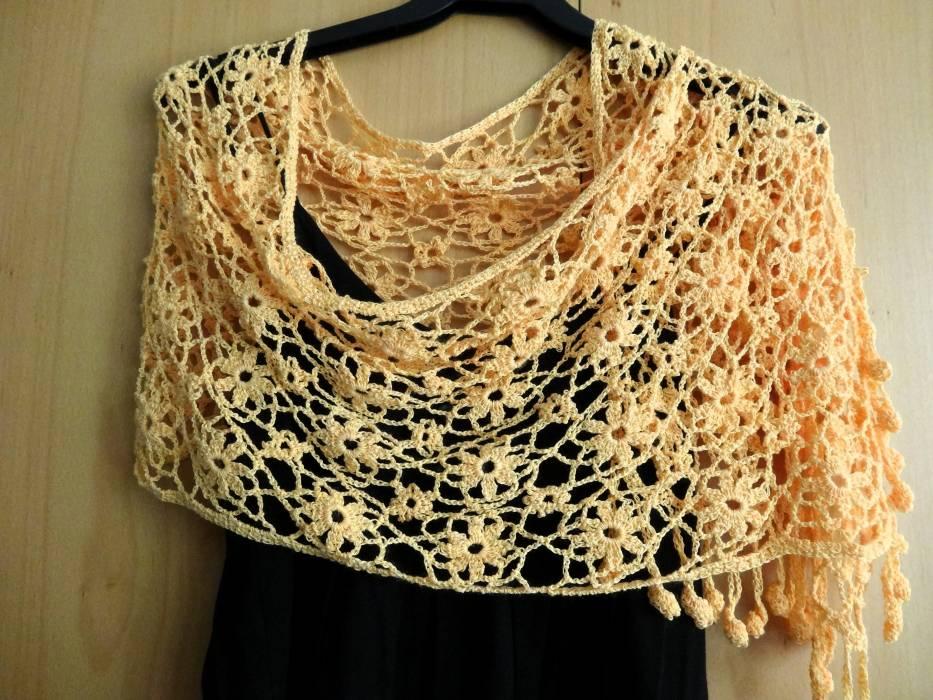 Amity Shawl | Crochet | Cotton | Accessories | Abejitas