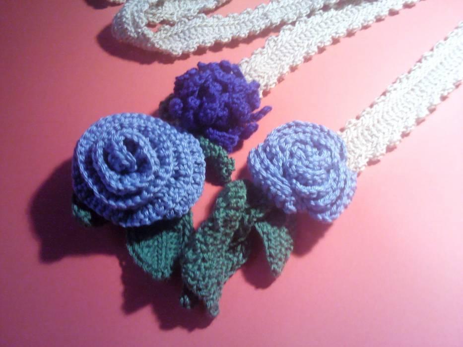 Bufanda-Collar con flores azules | Crochet | Algodón | Complementos ...