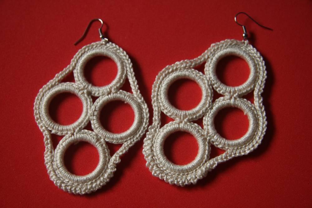 Pendiente Lubek | Crochet | Algodón | Complementos | Abejitas | Un ...