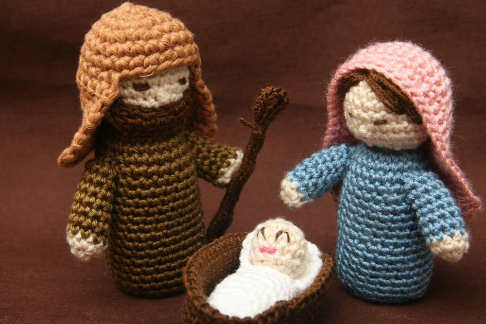 Amigurumi Nativity Español : Nativity crochet amigurumi cotton decoration others