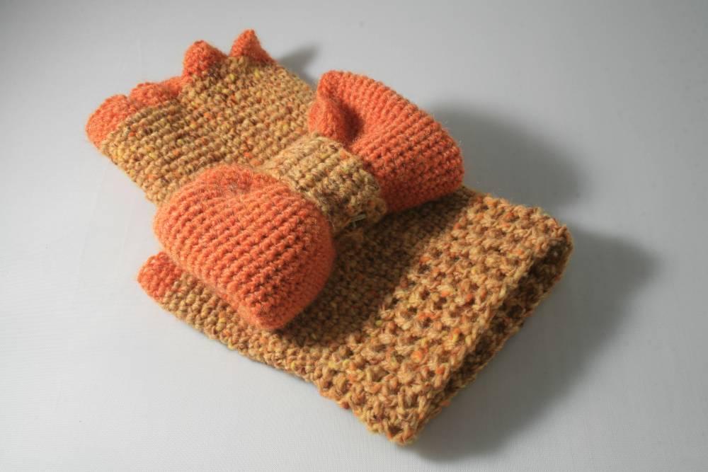 Excepcional Mitones Convertibles Patrón De Crochet Ornamento - Manta ...