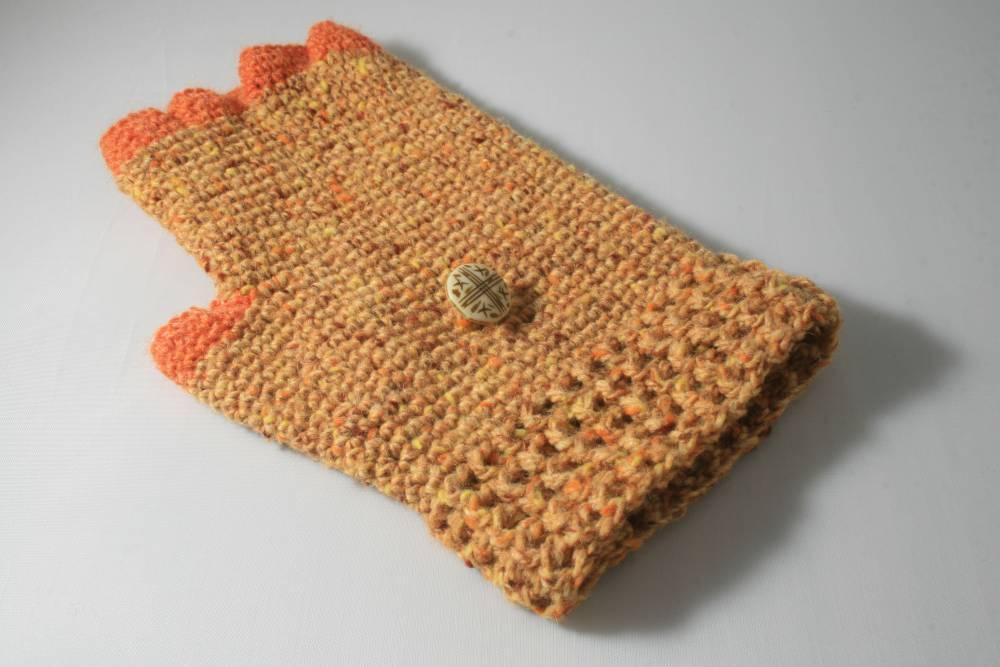 Lujo Mitones Convertibles Patrón De Crochet Elaboración - Manta de ...