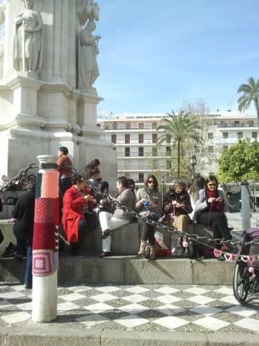 Tejedoras. Urban Knitting Sevilla. Febreo 2013