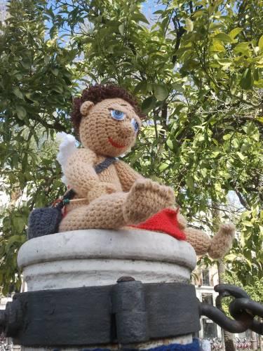Cupido amigurumi. Urban Knitting Sevilla. Febreo 2013