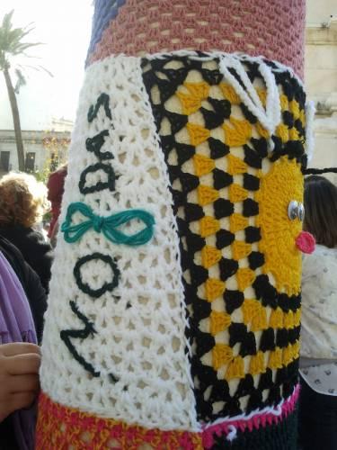 No8das y Abejitas en el Urban Knitting Sevilla. Febreo 2013