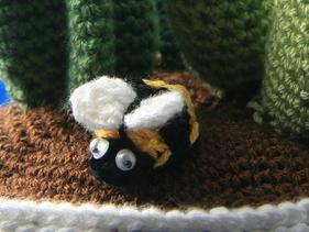 Centro de cactus de crochet