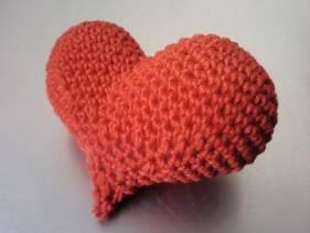 Puffy heart brooch