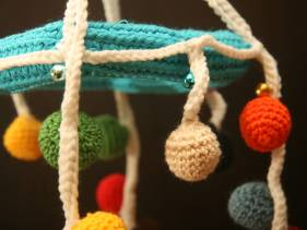 Amigurumi crib mobile